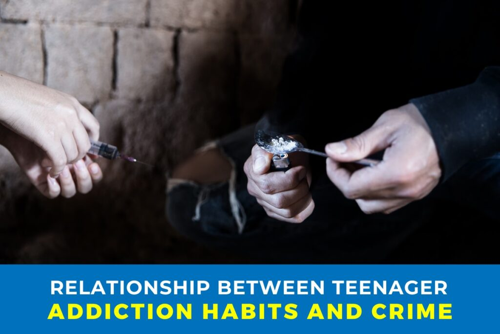 Relationship between Teenager addiction habits and Crime